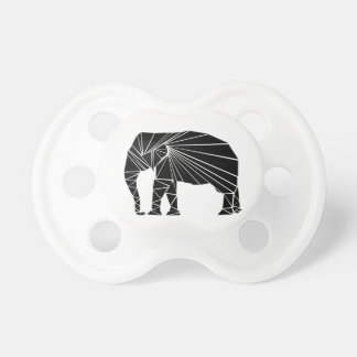 Tétine Éléphant noir géométrique