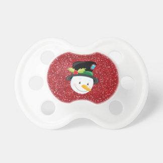 Tétine gaie de bonhomme de neige de Noël