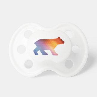 Tétine géométrique de 🐻 d'ours de bébé