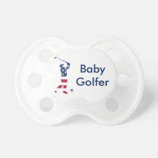 Tétine Golfeur de drapeau américain de golf des