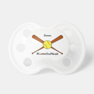 Tétine Le base-ball d'amour ajoutent le sport nommé