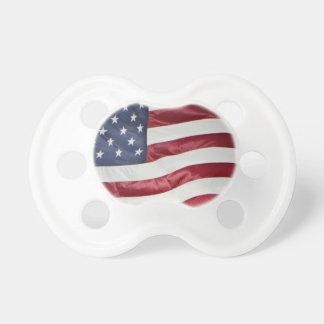 Tétine Le drapeau américain, étoile a orné le bleu blanc