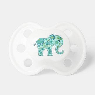 Tétine L'éléphant fleurit Teal