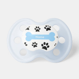 Tétine Os de chien bleu de Cuztomizable avec des