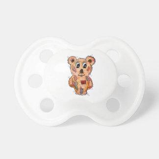Tétine Ours d'ours en peluche avec des pièces rapportées