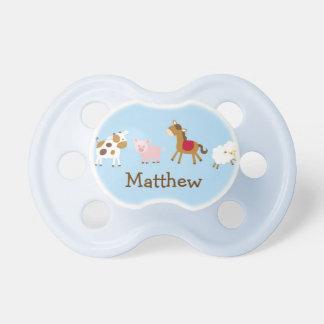 Tétine personnalisée d'animal de ferme de bébé
