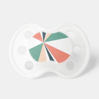 Tétine Rétro éclat de couleur d'art géométrique moderne