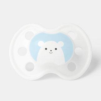 Tétine semi-transparente de bébé d'ours blanc