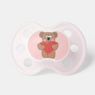 Tétines mignonnes de bébé d'ours de Valentine