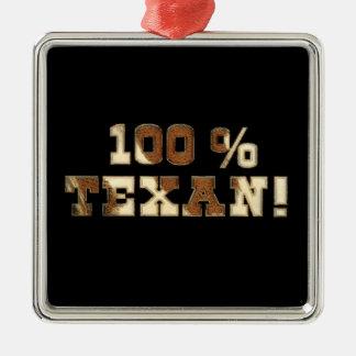Texan 100% ornement carré argenté