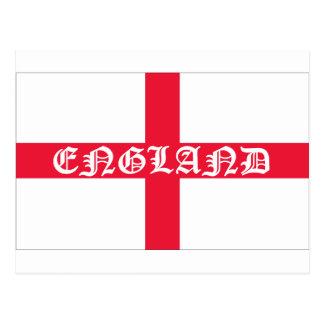 Texte anglais de blanc de drapeau carte postale