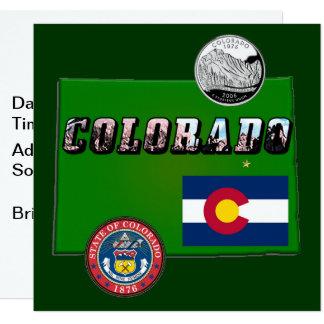 Texte de carte et d'image du Colorado
