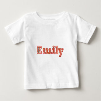 Texte de nom de fille d'EMILY T-shirt Pour Bébé