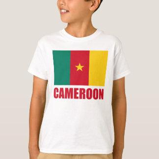 Texte de rouge de drapeau du Cameroun T-shirt