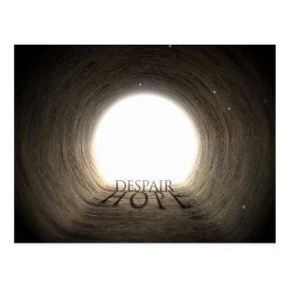 Texte de tunnel et concept d'ombre - désespoir et cartes postales