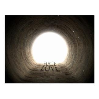 Texte de tunnel et concept d'ombre - haine et carte postale
