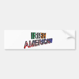 Texte Irlandais-Américain pour l'adhésif pour Autocollant De Voiture