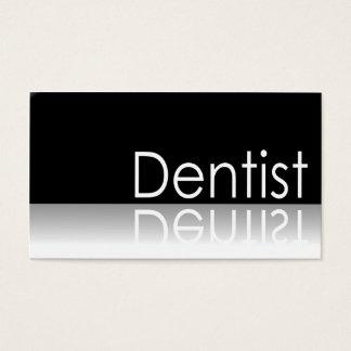 Texte réfléchi - dentiste - carte de visite