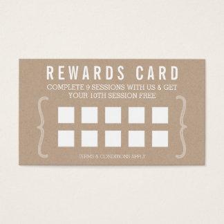 Texte simple papier d'emballage à la mode minimal cartes de visite