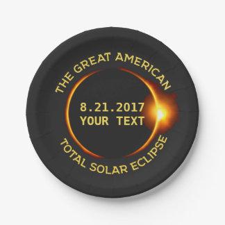 Texte total de coutume des Etats-Unis de l'éclipse Assiettes En Papier