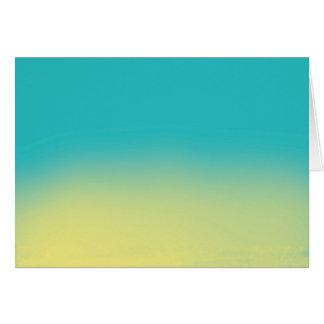Texture d'aquarelle d'Ombre - Teal et jaune Carte De Vœux