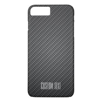Texture de fibre de graphite avec le texte fait coque iPhone 7 plus