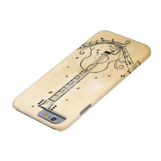 Texture de papier de remous de feuille de musique coque iPhone 6 barely there