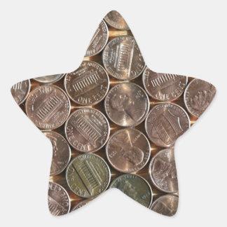 Texture de penny de Lincoln d'Américain Sticker Étoile