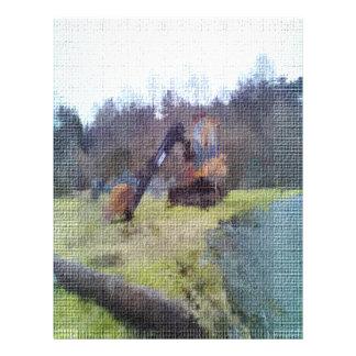 texture de photo d'excavatrice prospectus personnalisés
