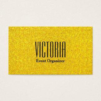 Texture de scintillement d'or cartes de visite