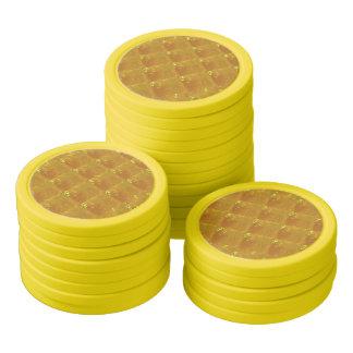 Texture d'or de jaune de jetons de poker d'argile