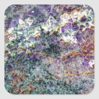 texture en pierre 2.JPG d'améthyste Sticker Carré