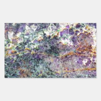 texture en pierre 2.JPG d'améthyste Sticker Rectangulaire
