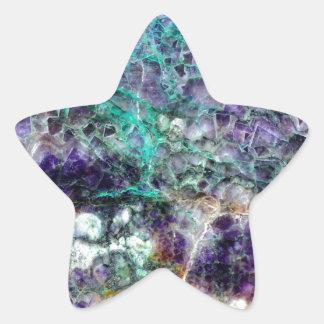 texture en pierre 4.JPG d'améthyste Sticker Étoile
