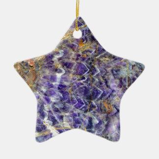 texture en pierre 5.JPG d'améthyste Ornement Étoile En Céramique