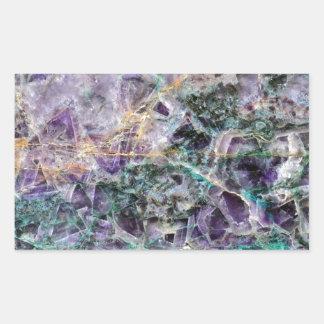 texture en pierre d'améthyste sticker rectangulaire