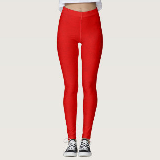 Texture faite sur commande rouge de cuir de suède leggings