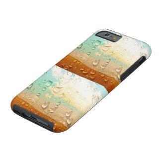 Texture fraîche, gouttelettes d'eau sur la pierre coque iPhone 6 tough