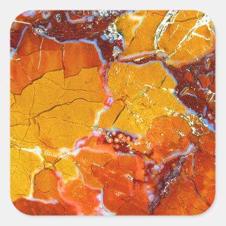 Texture Orange-Écrasée Sticker Carré