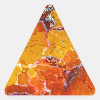 Texture Orange-Écrasée Sticker Triangulaire