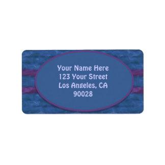 texture pourpre bleu-foncé étiquette d'adresse