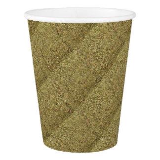 texture sèche de thym gobelets en papier
