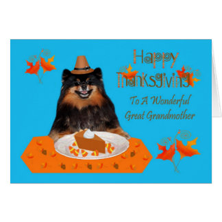 Thanksgiving à la carte de voeux d'arrière