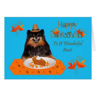 Thanksgiving à la carte de voeux de tante