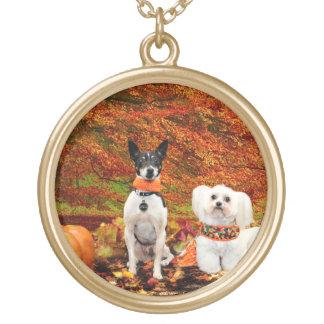Thanksgiving de chute - Fox Terrier de Monty et Collier Plaqué Or