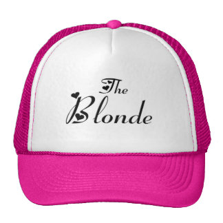 The blonde cap mesh pet