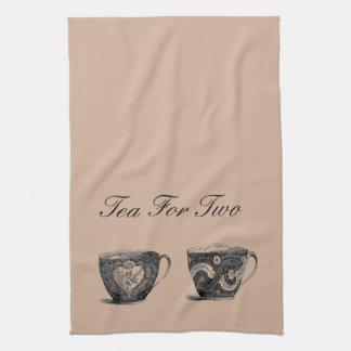 Thé pour la serviette de thé deux
