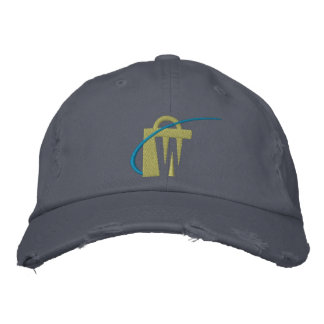 The Worlds Biggest Embroidered Navy Chino Hat Embroidered Hat