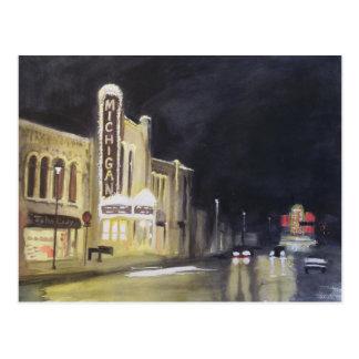 Théâtre Ann Arbor du Michigan Cartes Postales