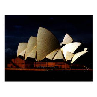 Théatre de l'opéra de Sydney au crépuscule - Carte Postale